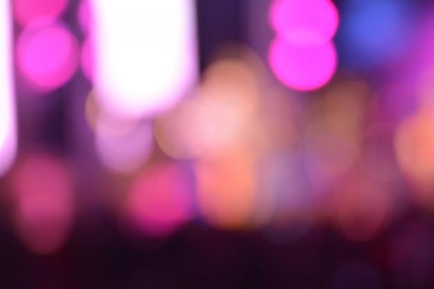 Bokeh-lichtnacht bunt von der unschärfe mit bokeh abstraktem beschaffenheitsnachtleben