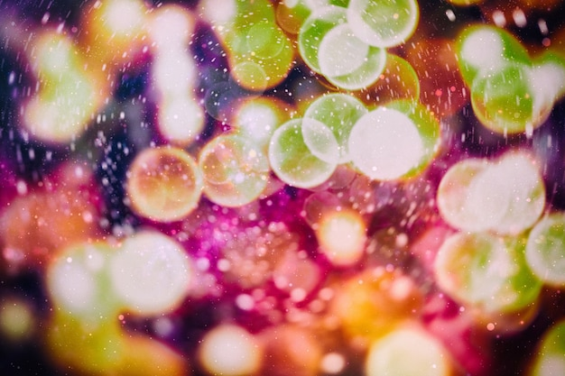 Bokeh mit mehreren farben, festlicher lichter-bokeh-hintergrund, defokussierte bokeh-lichter, verschwommenes bokeh, bokeh-licht-vintage-hintergrund, abstrakter bunter defokussierter punkt, weichzeichner