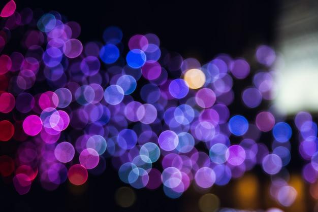 Bokeh nachtlicht hintergrund