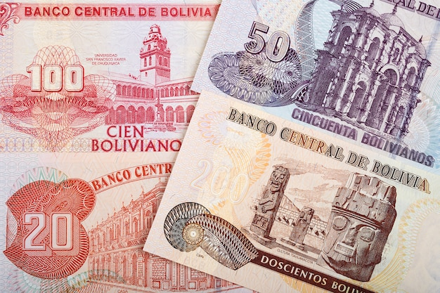 Bolivianer boliviano ein geschäftshintergrund
