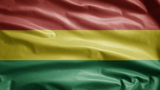 Bolivianische flagge, die im wind weht