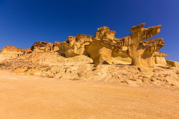 Bolnuevo mazarron erodierte sandsteine murcia
