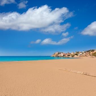 Bolnuevo strand in mazarron murcia in spanien