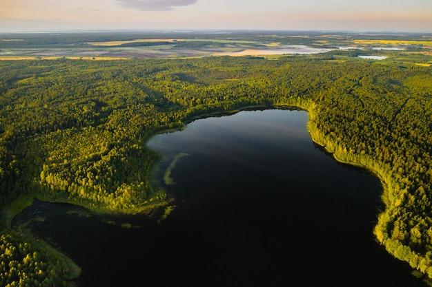 Bolta see im wald im braslav seen nationalpark im morgengrauen