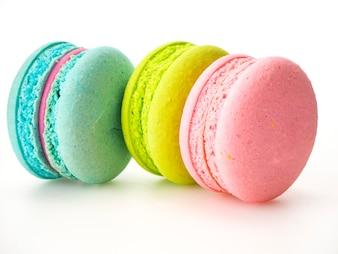Bonbon drei macarons Liebe auf Weiß