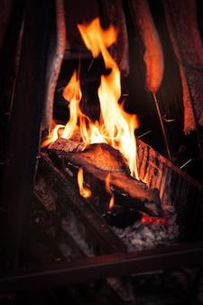 Bonfire eines kamins