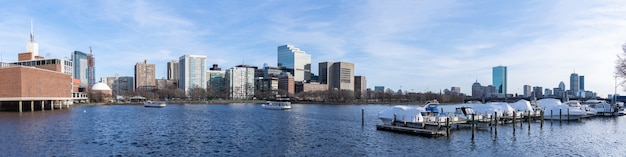 Boston im stadtzentrum gelegenes panorama