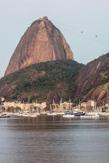Botafogo-bucht in rio de janeiro, brasilien.