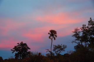 Botswana sonnenuntergang