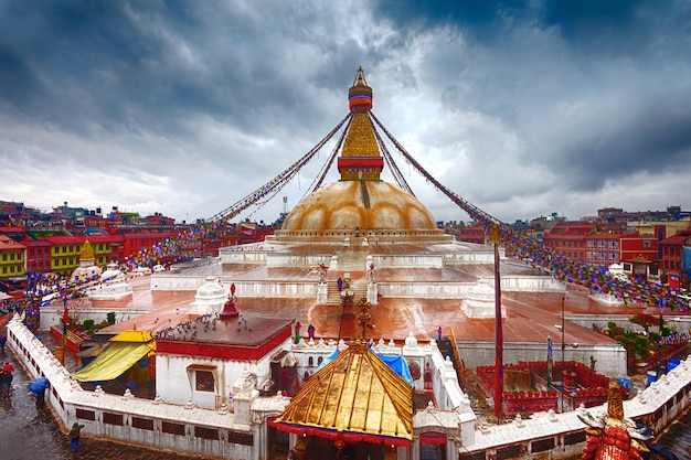 Boudhanath-stupa in kathmandu, nepal