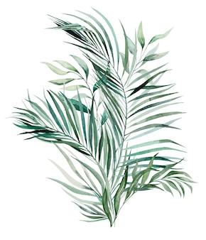 Bouquet der tropischen aquarellblätter