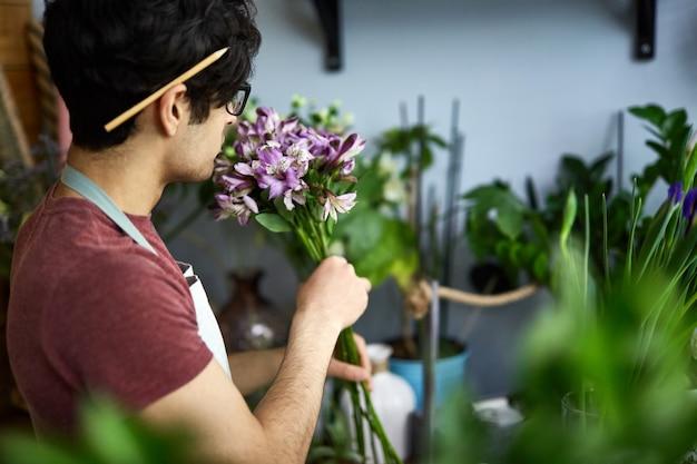 Bouquet riechen