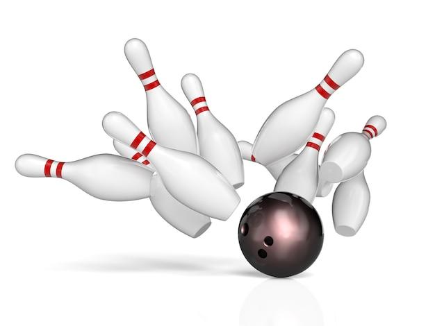 Bowling hintergrund konzept