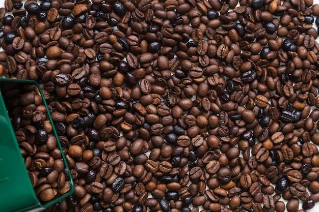 Box auf kaffeebohnen
