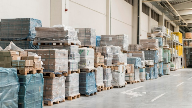 Boxenanordnung im logistikzentrum