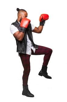 Boxer bereit zu kämpfen