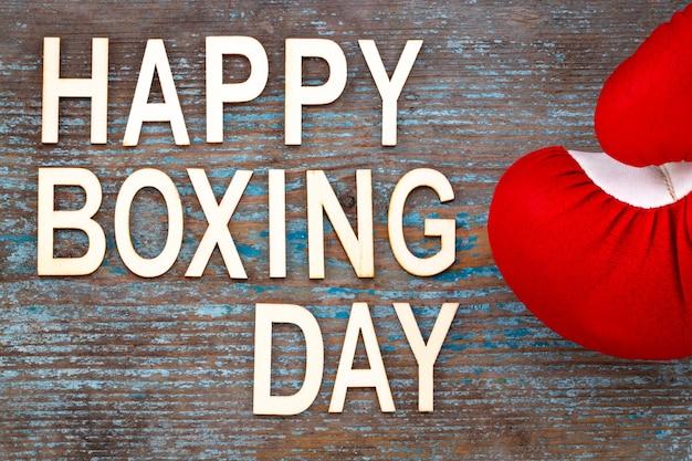 Boxing day sale konzept auf holzhintergrund.