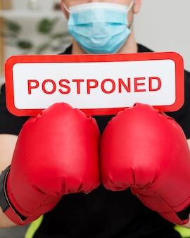 Boxing event nachricht verschoben