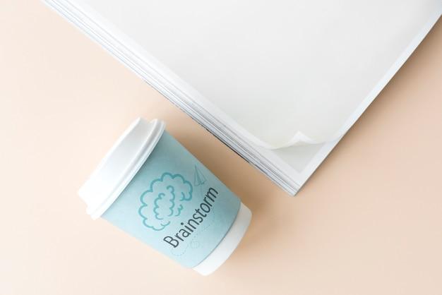 Brainstorm geschrieben auf eine papierschale