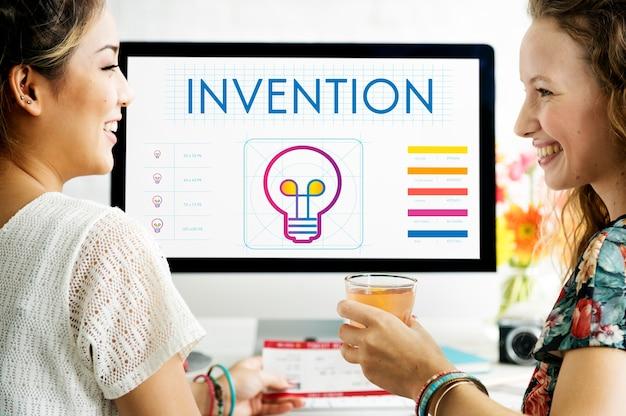 Branding innovation creative inspire konzept Kostenlose Fotos