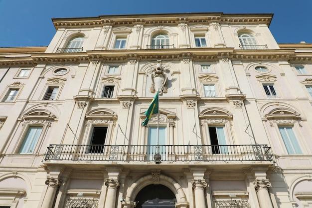 Brasilianische botschaft in rom, italien
