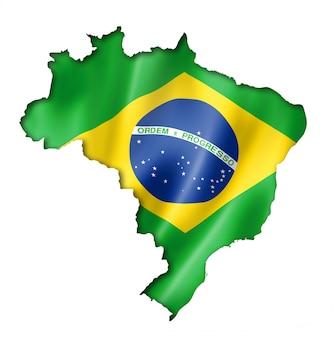 Brasilianische flagge karte