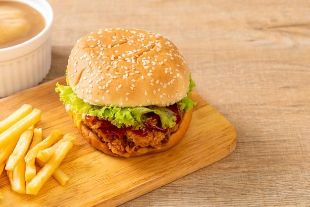 Brathähnchen burger