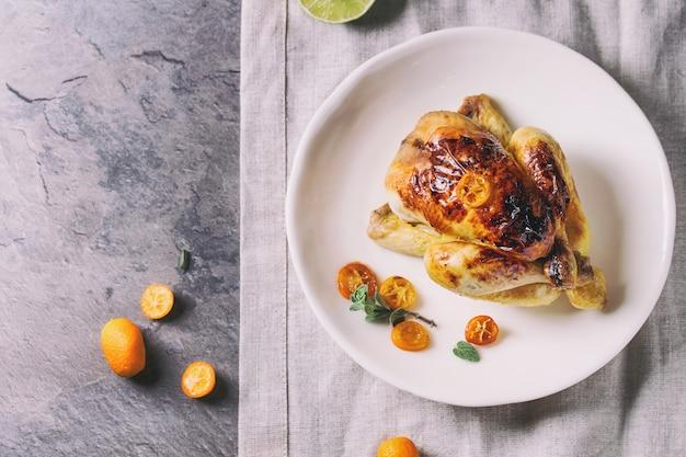 Brathähnchen mit kumquats