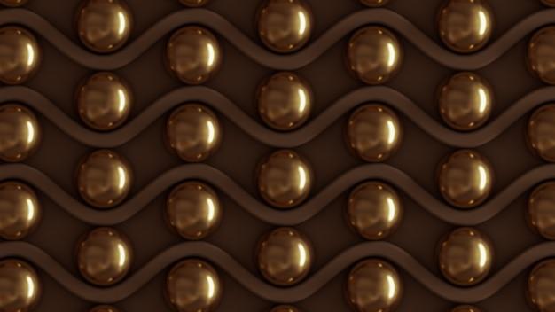 Braune architektur, innenmuster, beige gold textur wand. 3d-rendering.