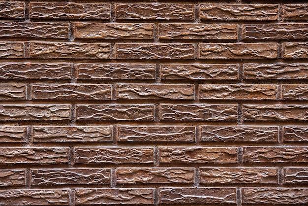 Braune backsteinmaueroberfläche