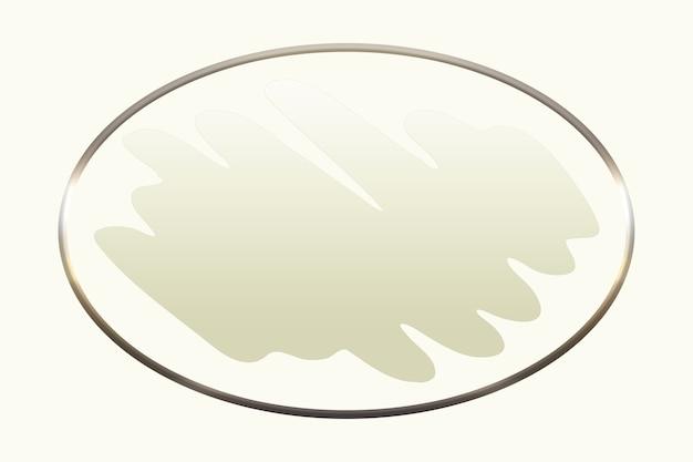 Braune farben abstrakte logo-hintergrundillustration in form eines pinsels mit einem goldenen kreis