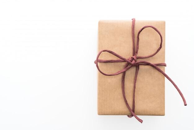 Braune geschenkbox