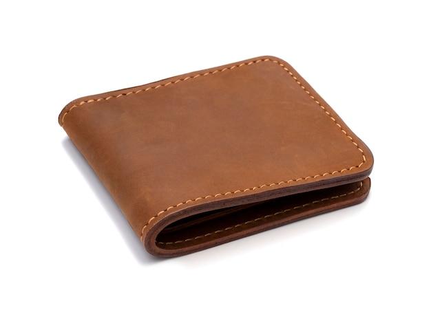 Braune lederbrieftasche