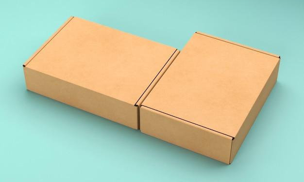 Braune leere vereinfachte pappkartons