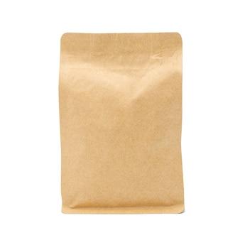 Braune papiertüte lokalisiert auf weißem raum