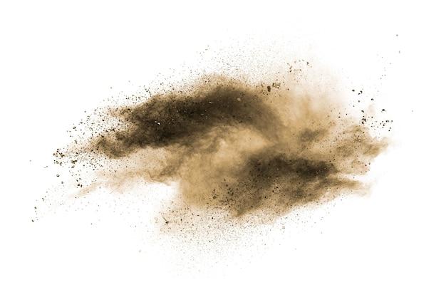 Braune pulverstaubwolke