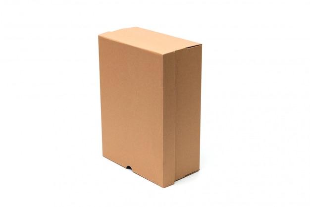 Braune schuhschachtel aus pappe mit deckel für die verpackung von schuh- oder sneakerprodukten