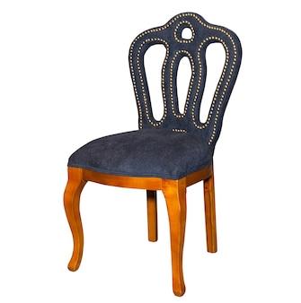 Brauner küchenhocker stuhl lokalisiert auf weiß