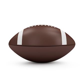 Brauner rugbyball lokalisiert auf weißem hintergrund. sport- und erholungskonzept