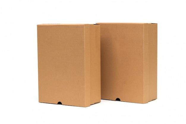 Brauner schuhkarton mit deckel für schuh- oder sneakerprodukte