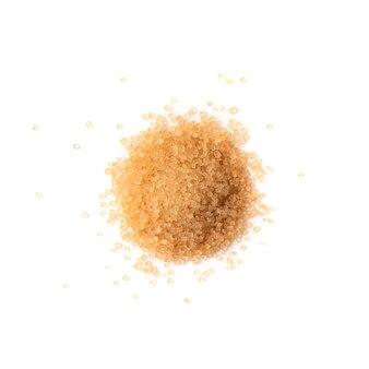 Brauner zucker isolierte draufsicht