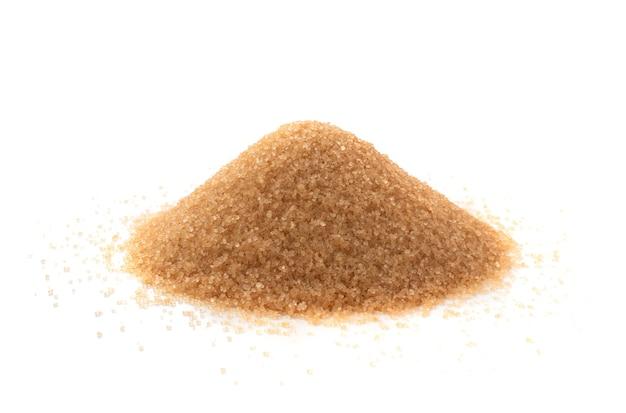Brauner zucker isolierte seitenansicht