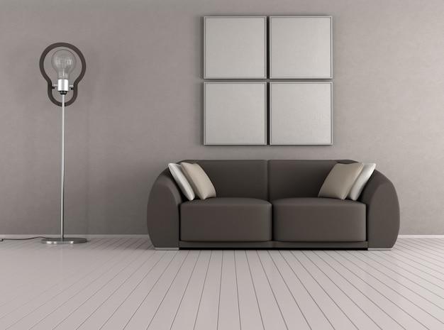 Braunes modernes wohnzimmer