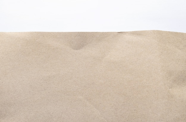 Braunes papier textur. geknittert bereiten sie papierhintergrund auf