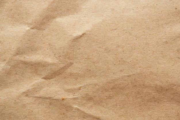Braunes zerknittertes papier recycelte kraftblattstruktur