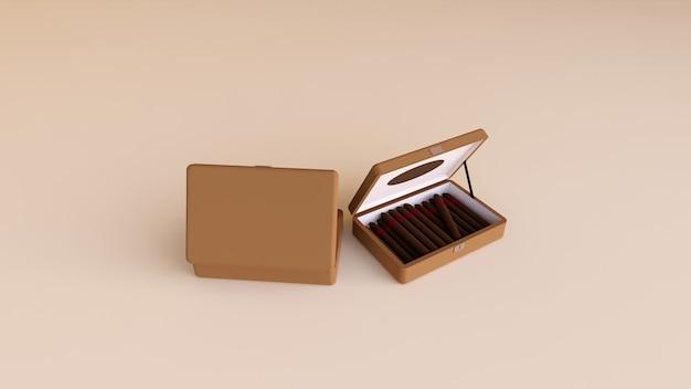 Braunes zimmer mit braunen zigarren