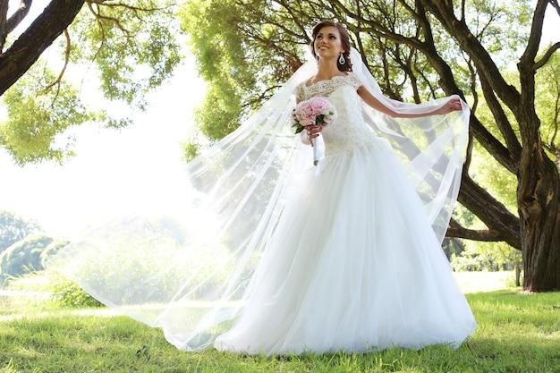 Braut am hochzeitstag