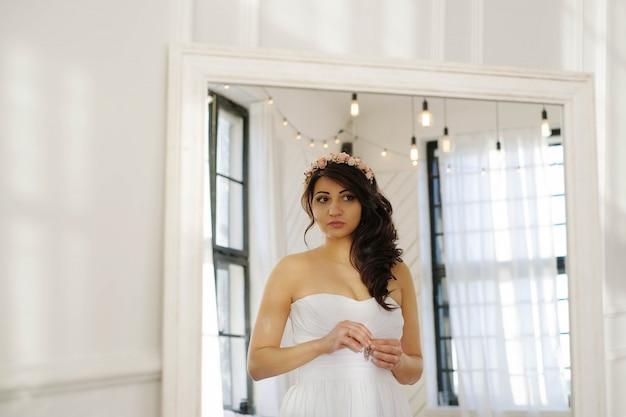 Braut an ihrem hochzeitstag