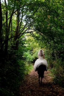 Braut auf einem pferd