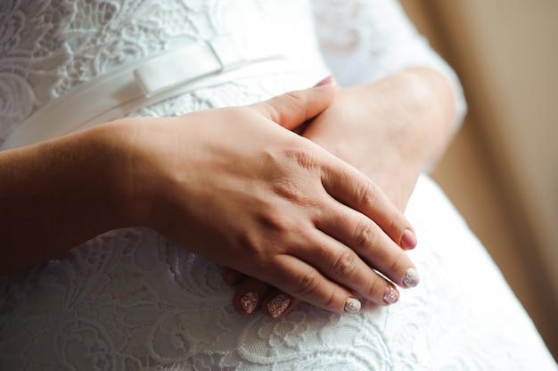 Braut hochzeit details - hochzeit weißes kleid für eine frau